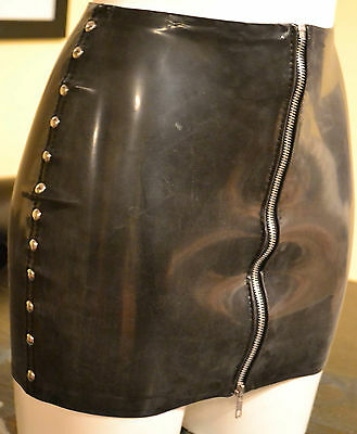 The Federation Rubber Latex Stud Side Mini Skirt  Brand New Cross Dress