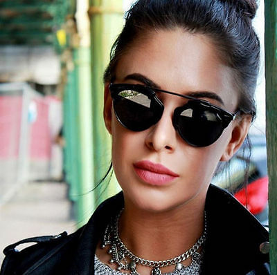 So Real Black Sunglasses Men Women Designer Retro Vintage Fashion