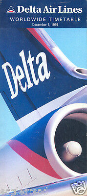 Airline Timetable - Delta - 07/12/97