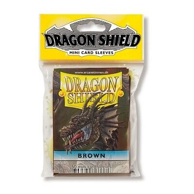 Dragon Shield 50 Mini Size Deck Protector Sleeves Brown TCG YGO Yugioh