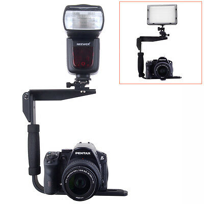 Neewer Quick Flip Rotating Flash Bracket fShoot Cameras and Speedlight Flashes