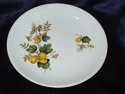 JOHNSON BROTHER SNOWHITE BREAD BUTTER PLATE NUT ACORN FRUIT BERRIES OFFSET JB990