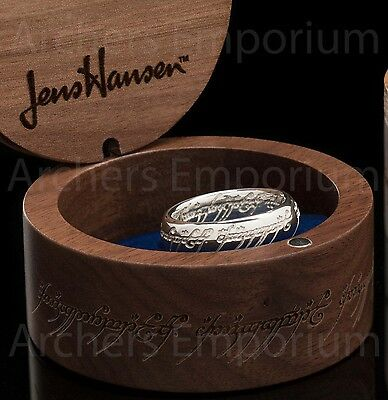 Sterling Silver One Ring with Runes. Official. LotR, Hobbit. Weta. Jens Hansen.