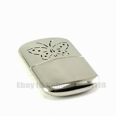 Winter Vintage/Antique Style Metal Hand Warmer & Cover Portable Silvery Refill
