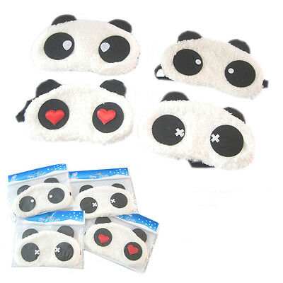Random Send Plush Cute Panda Eye Lightproof Mask Blindfold Comfortable Nap Cover