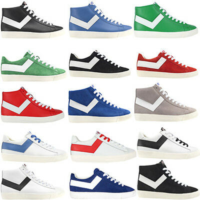 Pony Mens Casual Lace Up Hi Low Top Fashion Trainers Shoes Footwear