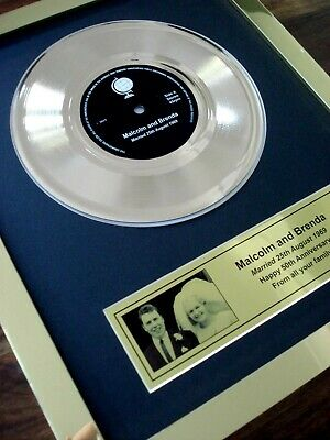 """Your Own Personalised 7"""" Gold Disc Single Record Award Presentation"""