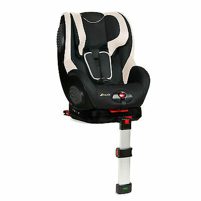 New Hauck Black / Beige Guardfix Isofix Group 1 Reclining Baby Car Seat