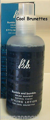 NIB Bumble and Bumble Styling Lotion Color Support Natural Finish Cool Brunettes