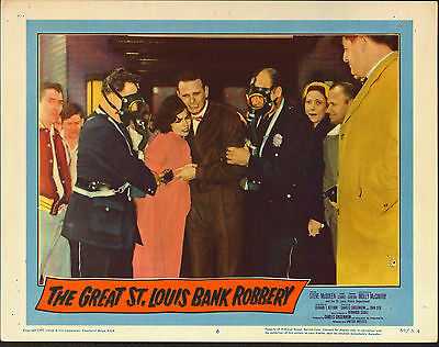 THE GREAT ST. LOUIS BANK ROBBERY original 1958 11x14 movie poster SOUTHWEST BANK