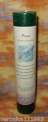 Peace Pillar Candle NEW Crystal Journey Herbal Energy Reiki Charged Healing 7""