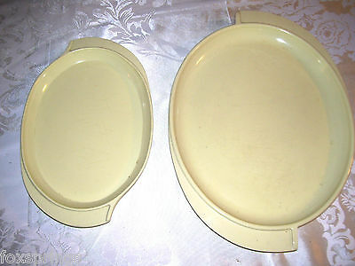 BOONTONWARE YELLOW WINGED PLATTERS SET OF 2 BOONTON   -  MIS269
