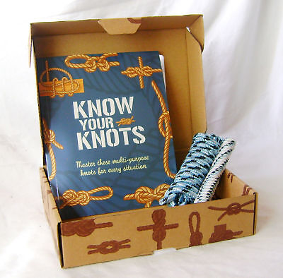 New Know Your Knots Box Book And 2 Tying Ropes  Hom