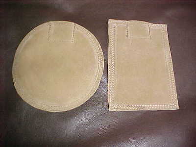"""New Set Two Suede Leather Beater Bag Shot/Sand Dollies/6""""X4"""" & 6"""" Diameter Round"""