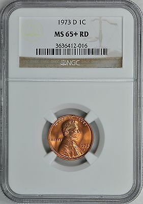 1973-D LINCOLN MEMORIAL CENT 1c NGC MS65+ RD
