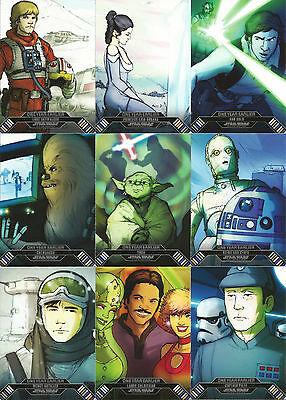 Star Wars Illustrated Empire Strikes Back ~ ONE YEAR EARLIER 18-Card Insert Set