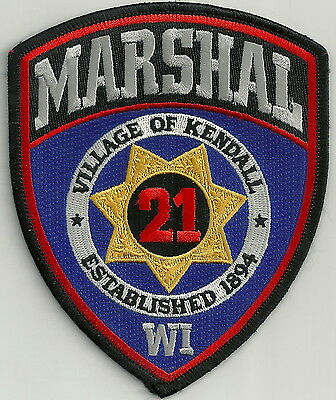 KENDALL MARSHAL WISCONSIN POLICE PATCH