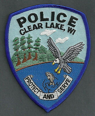 CLEARLAKE WISCONSIN POLICE PATCH EAGLE!