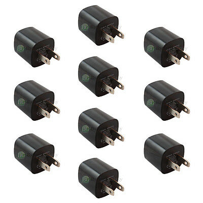10 Black USB Mini Wall Charger Adaptor for Samsung Galaxy S6/S6 Edge/Plus/Note 5