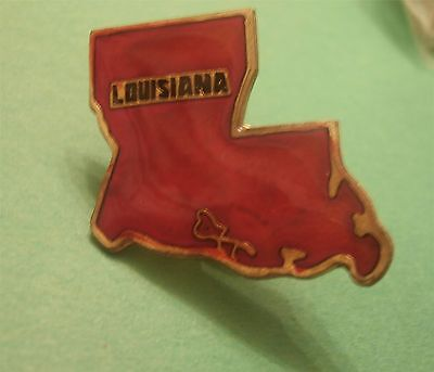 Louisiana Lapel Pin in the shape of the State