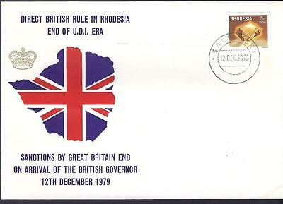 Rhodesia, 1979 , British Direct Rule,  Illustrated Cover.(Political Cover)