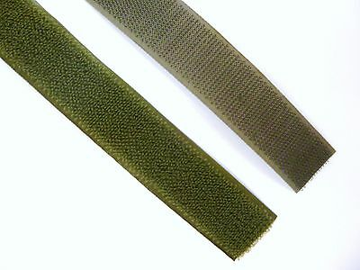 Army Surplus MTP NATO Olive Green 25mm Velcro Hook & Loop Sewing Uniform B3