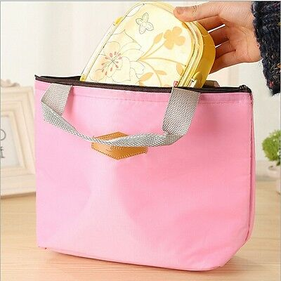 Portable Candy Color Picnic Thermal Cooler Waterproof Warmth Lunch Storage Bag Z