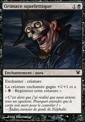▼▲▼ 4x Grimace squelettique ( Skeletal Grimace) Innistrad FRENCH #116