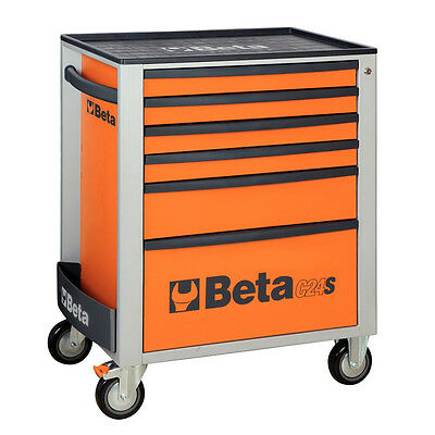 Beta Mobile Tool Roller/Roll Cab Box/Storage With Six Drawers- Orange - C24S 6/O