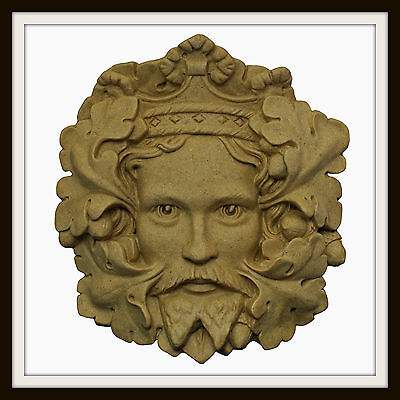 The Green King Green Man ~ Greenman Wall Plaque ~ Garden Or Indoors ~ Made In Uk