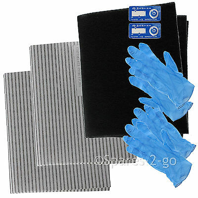 UNIVERSAL Cooker Hood Filter Extractor Vent Fan Grease Carbon Filters Cut Kit