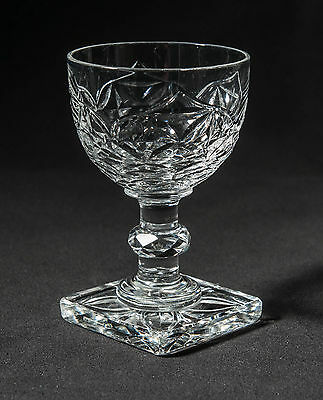 Antique Victorian/Edwardian Anglo-Irish Cut Small Port Glass with Square Foot