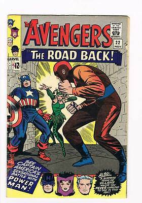 Avengers # 22  The Road Back ! grade 5.0 movie scarce hot book !!