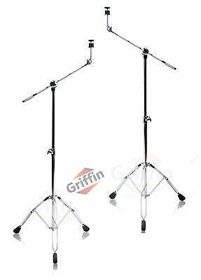Cymbal Boom Stand - 2 Pack Griffin Drum Hardware Arm Mount Adapter Percussion