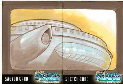 Dr Doctor Who Big Screen Additions Sketch Cards by Ingrid Hardy - Dual Sketch