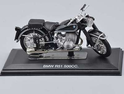 1/22 Scale Black BMW R51 500cc Motorcycle Italeri Diecast Moto Model Toy