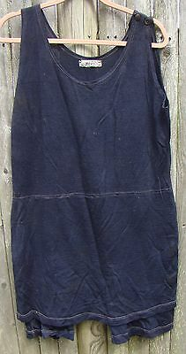 "Vintage Wool Bathing Suit "" Water ~ Sprite "" Navy Blue One piece"