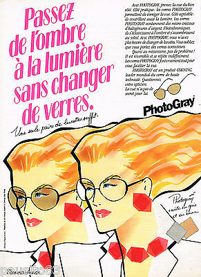 Collectibles Publicité Advertising 1982 Les Lunettes Photogray Breweriana, Beer