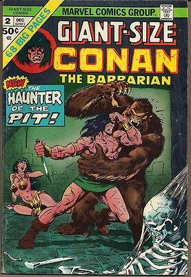 Marvel Giant Size Conan The Barbarian #2 Dec/74  Haunter Of The Pit 68 Pgs Fnvf