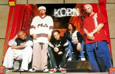 """1999 Vintage *korn* Music Group Promo Poster 24X34"""" Near-Mint Condition M"""