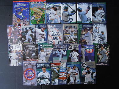 25 PC HUGE LOT Seattle Mariners Baseball Pocket Schedules Ken Griffey MORE!