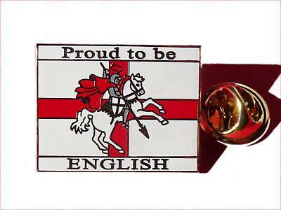 "England enamel pin badge - ""Proud To Be English"" Cross Of St George Badge"