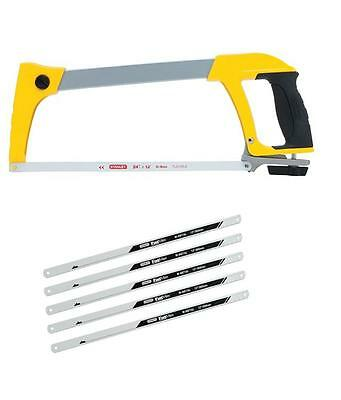 Stanley 120110 Dynagrip Heavy Duty Hack Saw Hacksaw 12 Inch 300Mm + 5 Blades