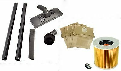 TOOL KIT FILTER & DUST hoover BAGS for KARCHER MV2 Wet & Dry Vacuum Cleaners