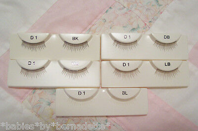 WISPY Upper Doll Eye Lashes~PICK 3 PAIRS From 5 COLORS~D1~Babies by Bernadette