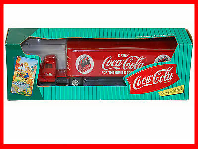 1996 Collectible Coca-Cola Die-Cast Metal Bank Ford Semi Truck.