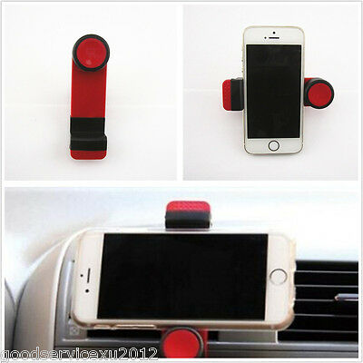 Red Rotated Scalable Car Air Vent Mount Holder Clip Stand Bracket For Cell Phone