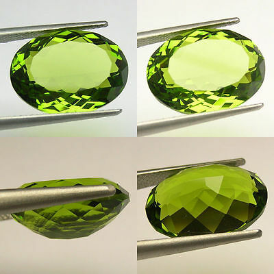VVS 11 cts Huge Oval (18x13 mm) Lab Simulated Peridot AAA C33