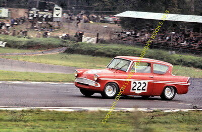 Ford Anglia Superspeed John Young Brands Hatch 1966. colour 10x7 inch photo