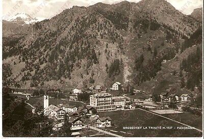 1960 GRESSONEY-LA-TRINITE' (AO) Panorama del paese *Cartolina FG VG